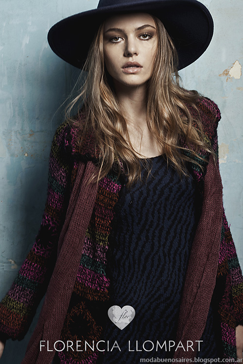 Florencia Llompart otoño invierno 2014 tejidos. Moda otoño invierno 2014.