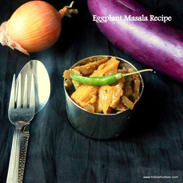 Eggplant Masala Recipe  , Brinjal Masala , Poriyal