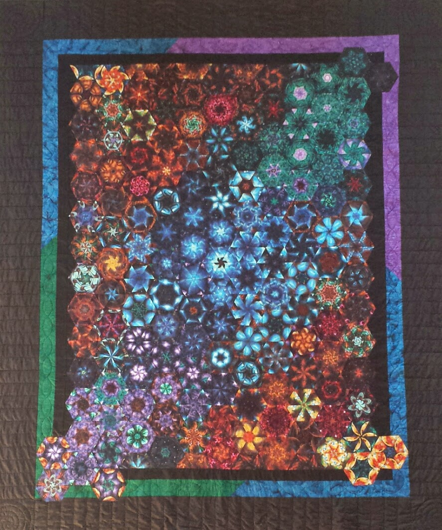 Serena bean quilts space one block wonder complete for Outer space quilt patterns