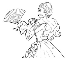 Barbie And Her Horse Coloring Pages