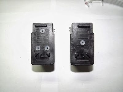 canon cartridges with caps placed