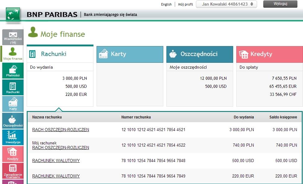 Bezpłatne konto bankowe z premią 70zł BNP Paribas