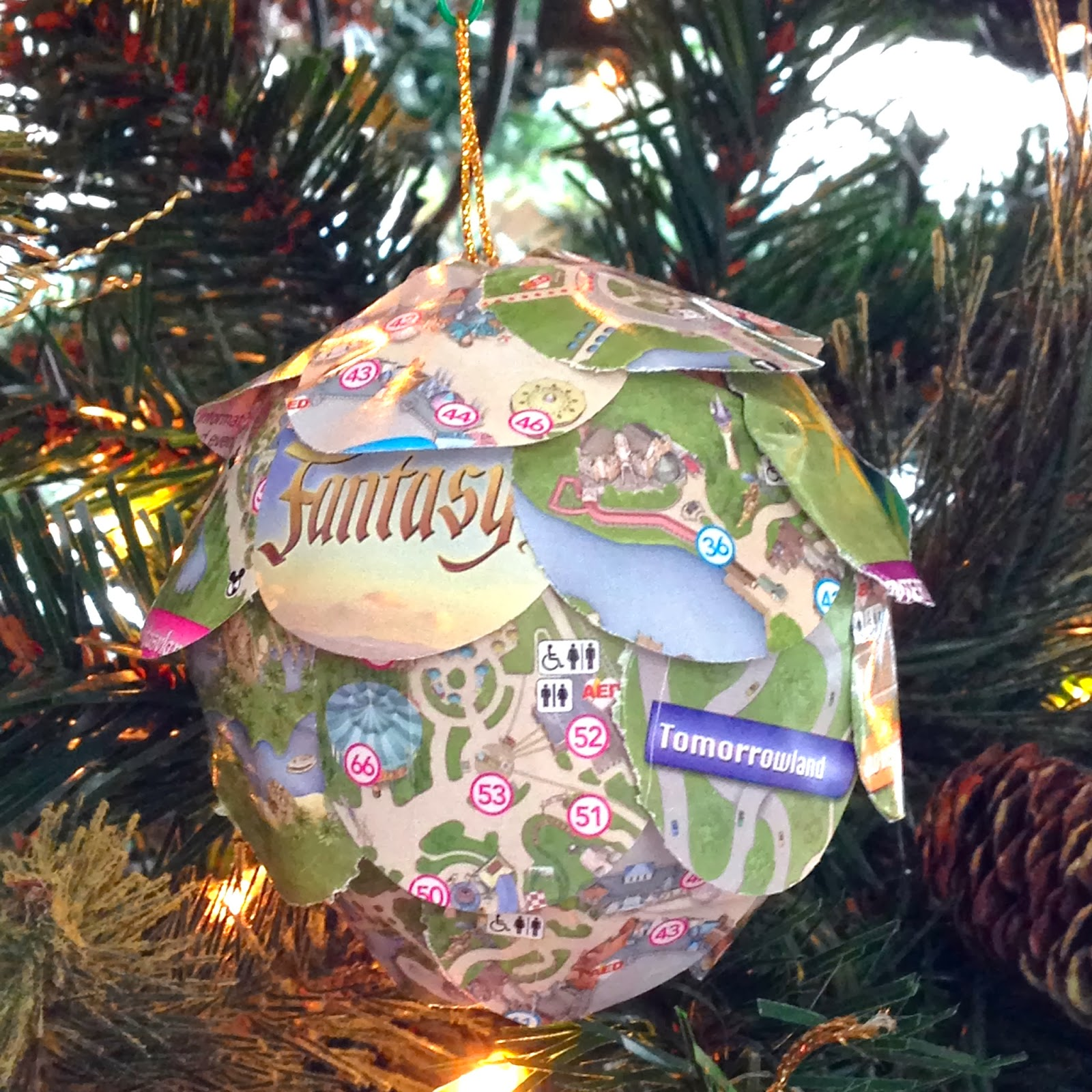 diy disney 12 days of christmas ornaments park map pomander i - Disney 12 Days Of Christmas