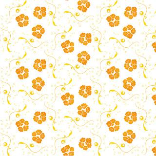 花柄の装飾パターン Vector Ornamental Floral Pattern イラスト素材