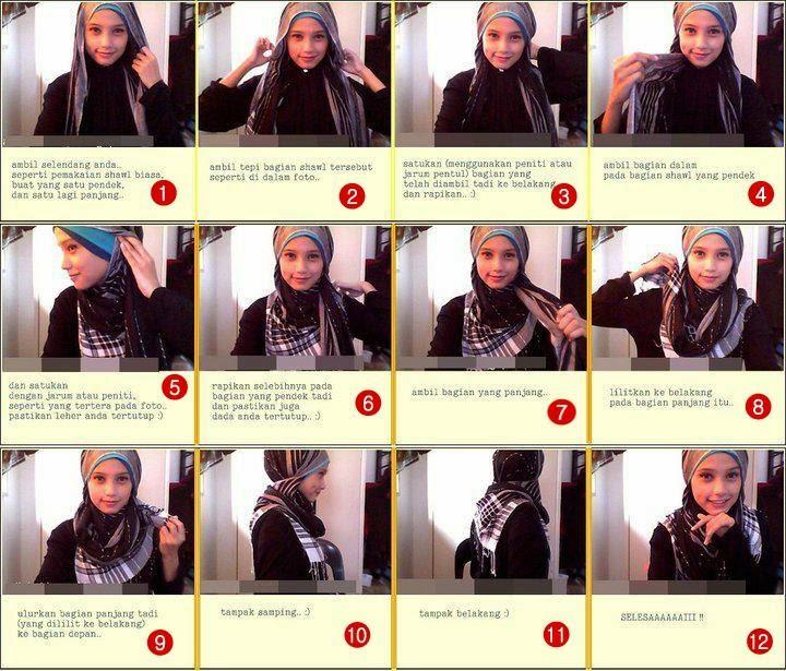 Gambar Tutorial Hijab Modern