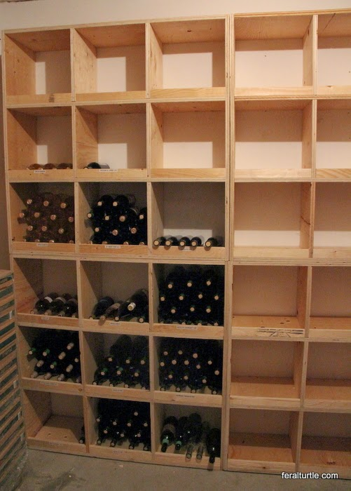 the feral turtle building wine storage. Black Bedroom Furniture Sets. Home Design Ideas