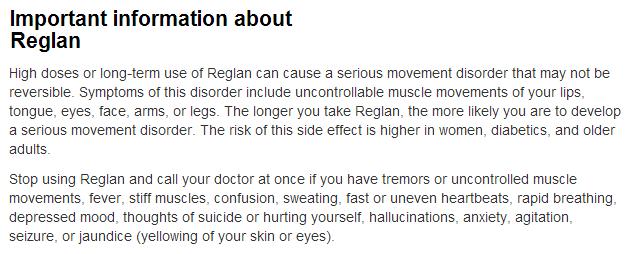 Metoclopramide Side Effects