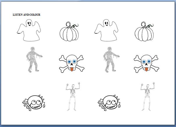 El Blog de Espe: Más fichas para el vocabulario de Halloween