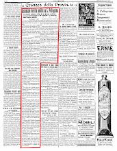 """""""ECO DI BERGAMO"""" 16 AGOSTO 1922"""