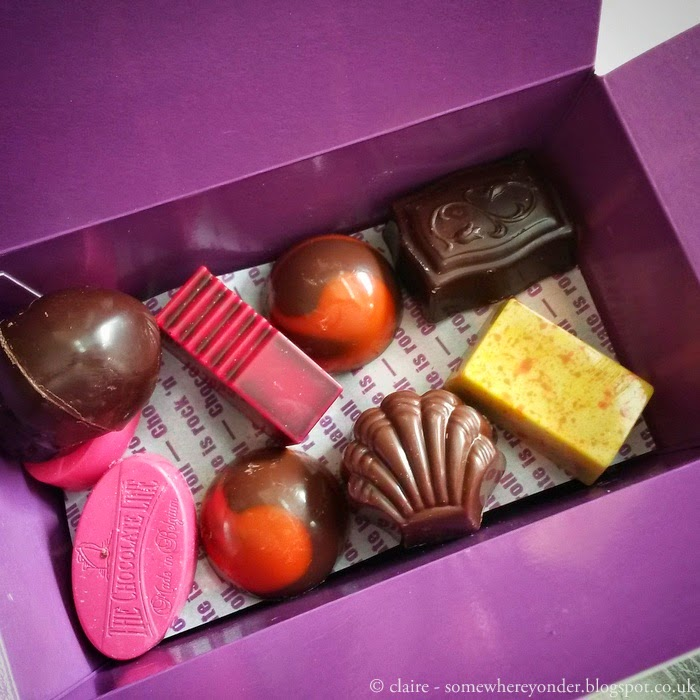A selection of Belgium pralines