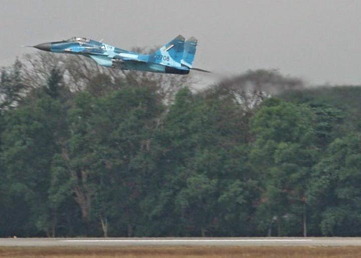 Myanmar Air Force Mig-29 violated Air Space of Bangladesh