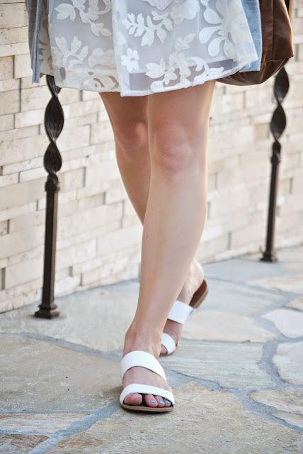White Sandals by LOFT