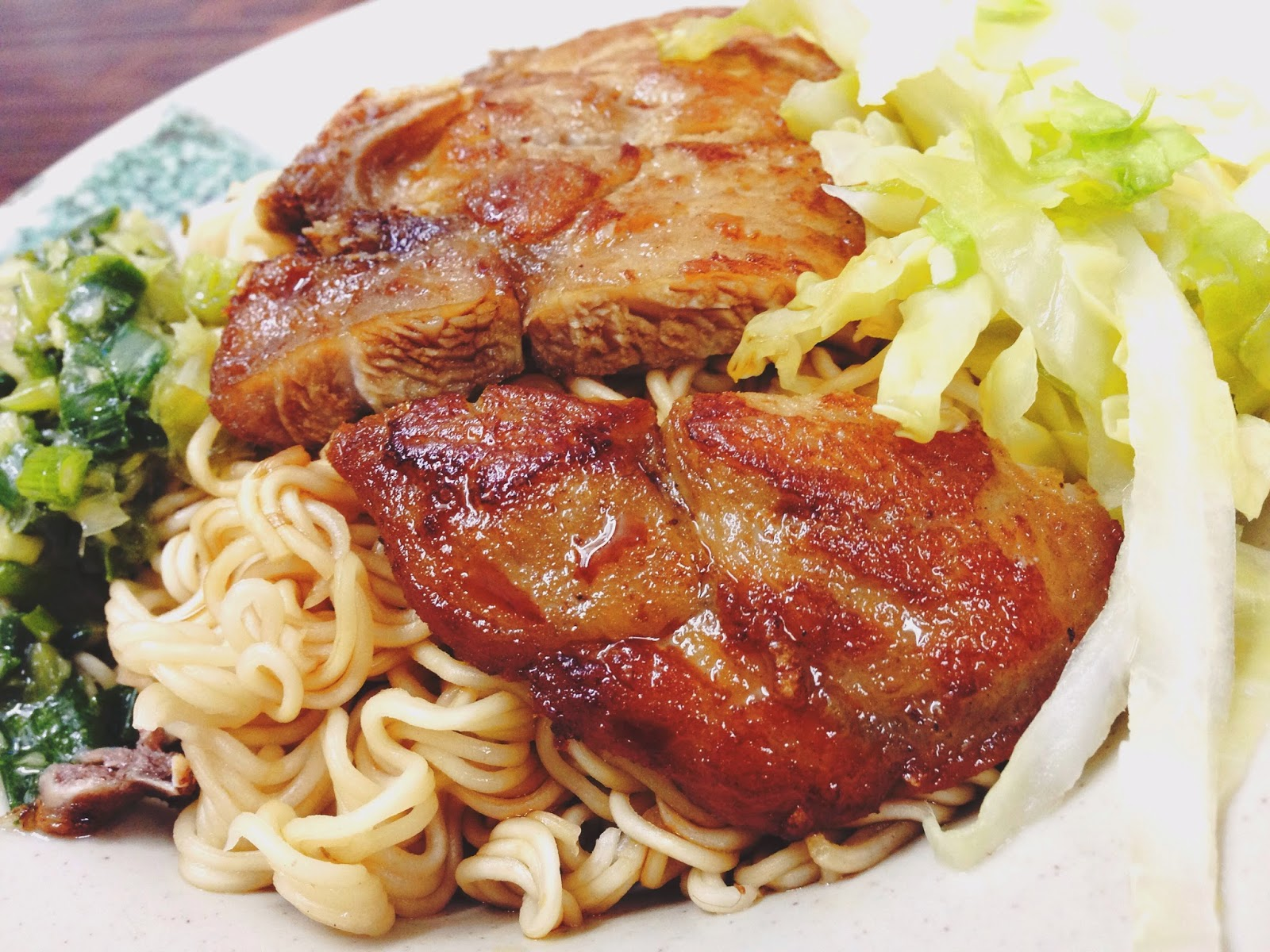 Lan Fong Yuen HK Pork Chop and Spring Onion Noodles