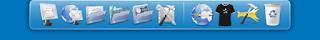 изначальный вид RocketDock после установки на Windows