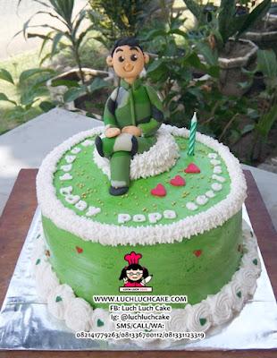 Kue Tart Tema Tentara Daerah Surabaya - Sidoarjo
