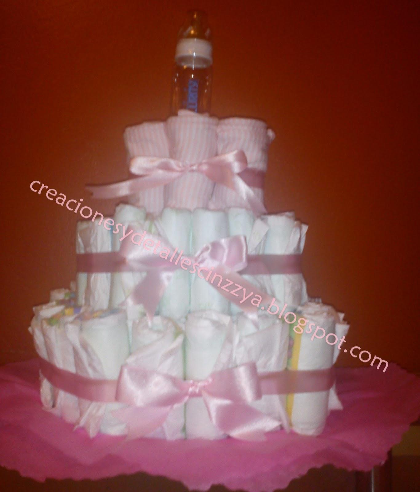 Detalles y creaciones cindy pastel de pa ales para baby shower - Detalles para baby shower ...