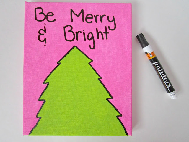 DIY Holiday Art | A cute and fun holiday print you can make yourself from Courtney's Little Things