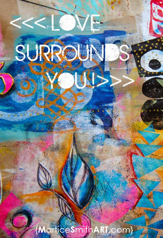 Love Surrounds You, illustration by artist Martice Smith II