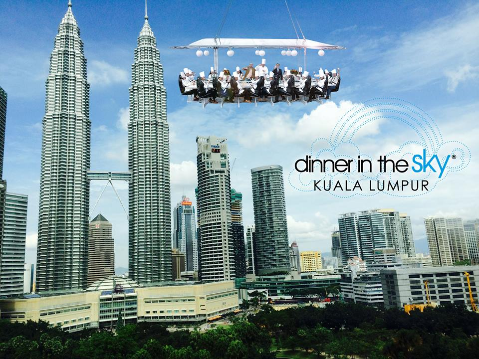 For RM Dine With Dinner In The Sky Malaysia TheHiveAsia - Dinner in the sky an unforgettable experience