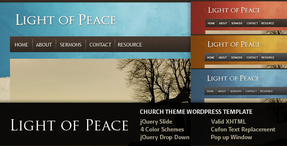 Light of Peace Wordpress Theme Free Download by ThemeForest.