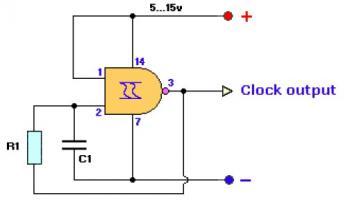 Circuit de g n rateur horloge for Porte nand cmos