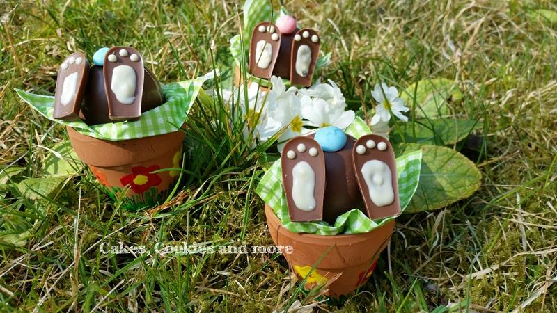 Überraschende Osterdekoration - Schokoladeneier als Hasen
