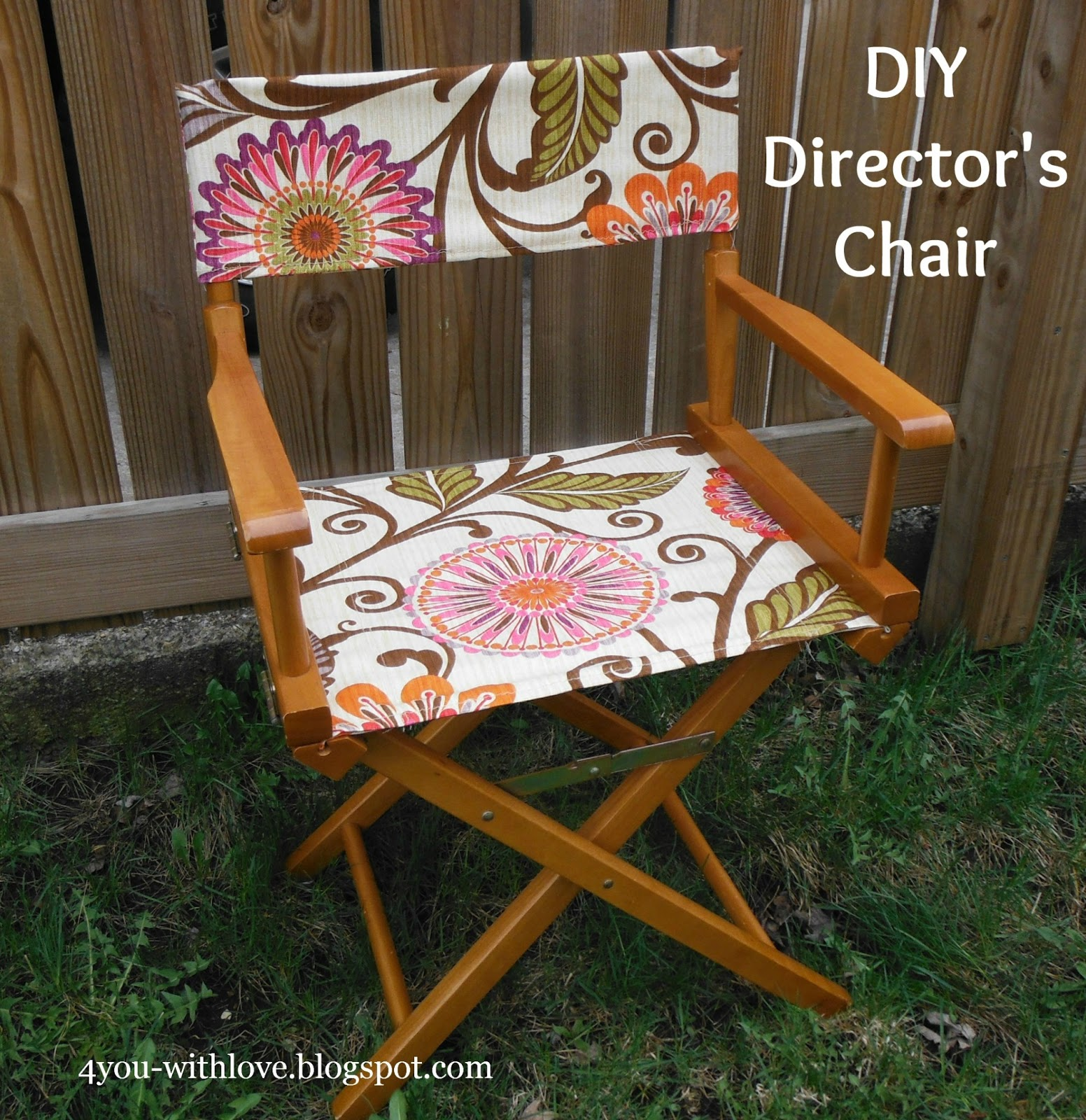 Back of director chairs -  Note You Will Need Slack In Your Fabric So Do This With Your Seat Slightly Folded Next Slide Your Seat Back Into Position