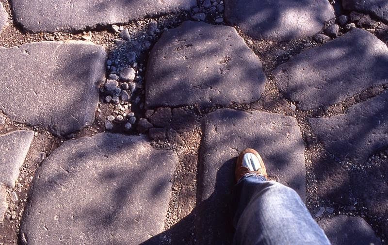 The paving stones I'm walking on were laid down 2,320 years ago in 312 BC.