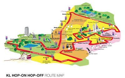 Kuala Lumpur Hop On Hop Off Bus - Route Map