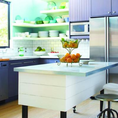 Dapur warna terang cerah