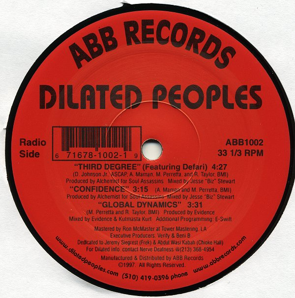 Dilated Peoples - Rework The Angles / Guaranteed (12 Inch Mix) / Work The Angles (Remix)