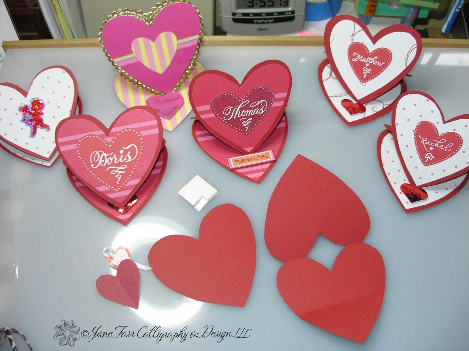 A Place To Flourish Calligraphy Flourish Friday Valentine Cards – Thomas Valentine Cards