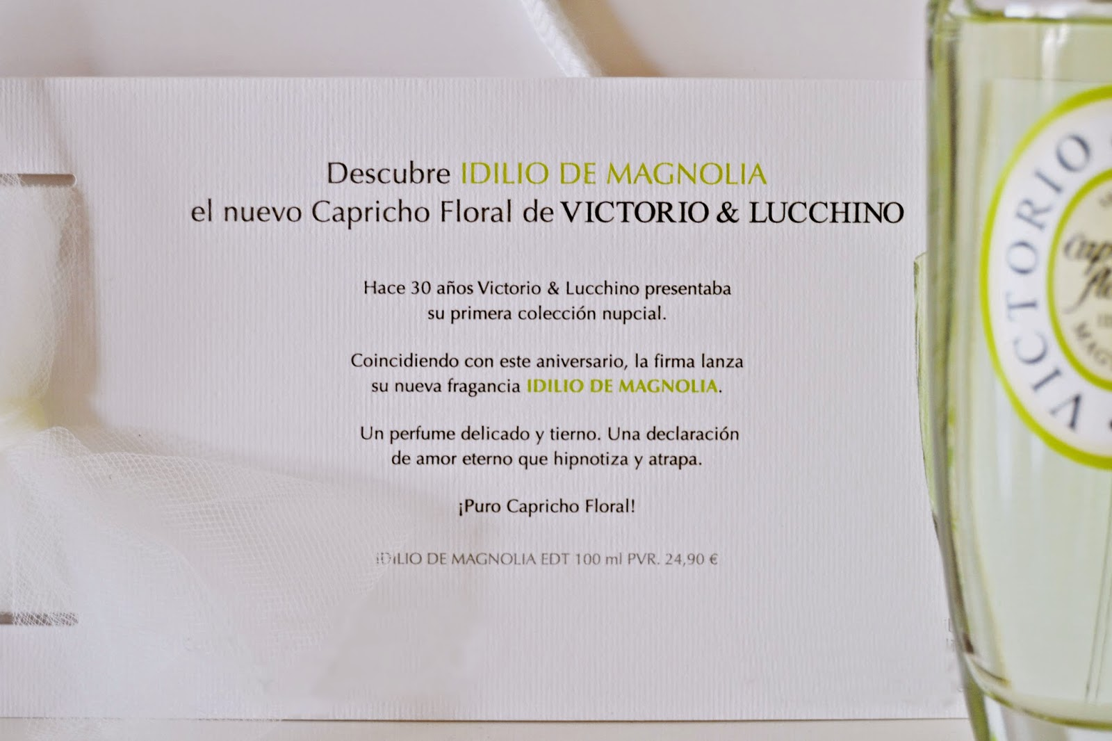 perfume idilio de magnolia de victorio y lucchino perfume de novia blog bodas mi boda gratis