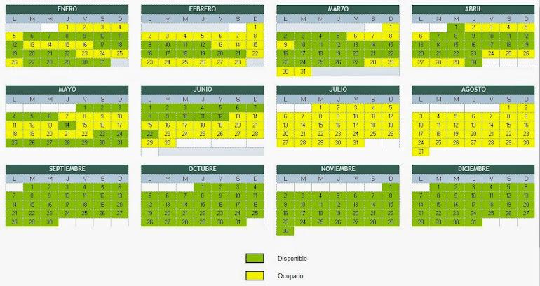 CALENDARIO DISPONIBILIDAD AÑO 2015 EDF. EUROMAR