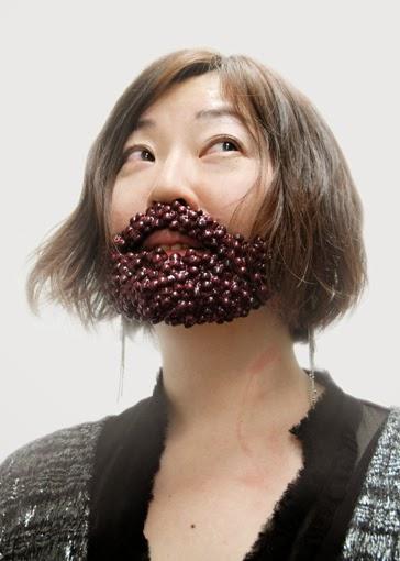 Takao Sakai , Portraits of Azuki Beans Beard., food, arte