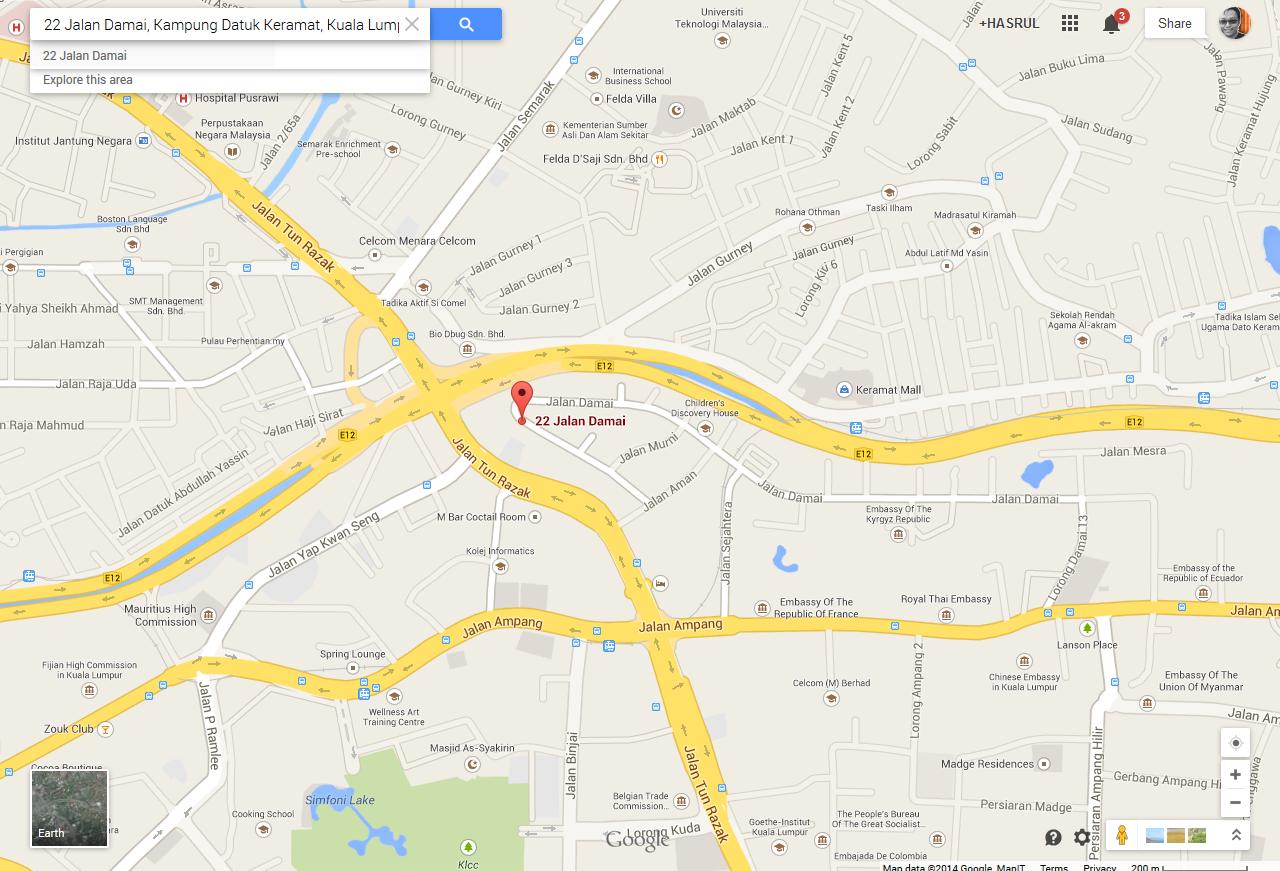 Google Maps Buffet Ramadhan Casa Ombak