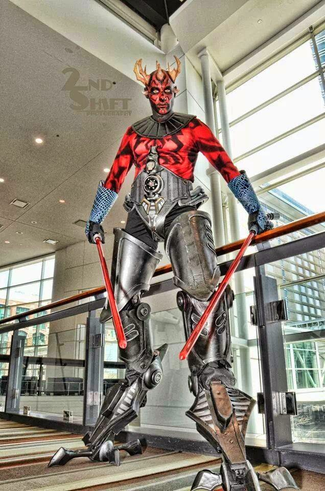 Cosplay Darth Maul Version cyborg