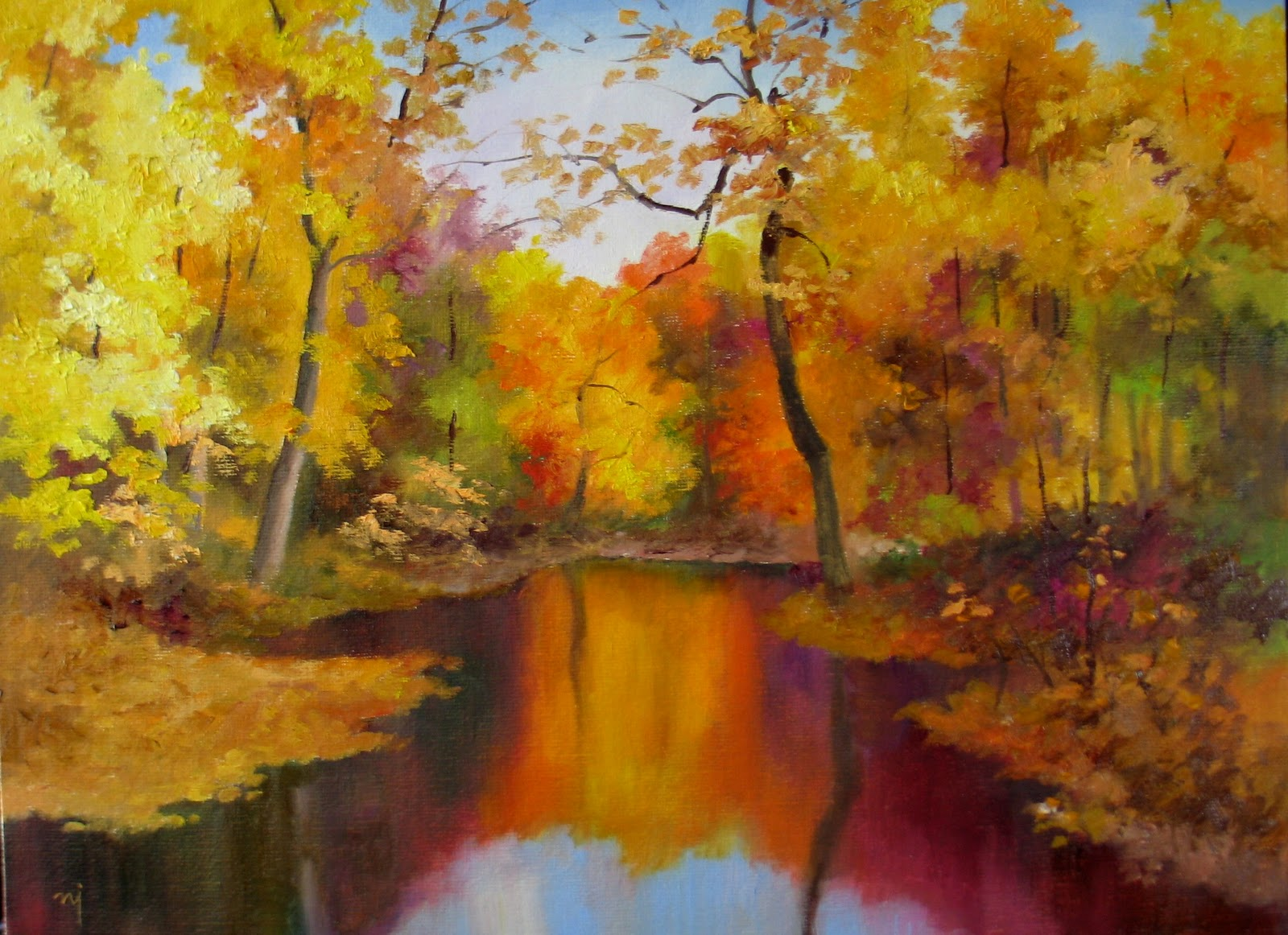 nel 39 s everyday painting autumn landscape 2 sold
