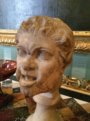 Chuck and Lori's Travel Blog - Bust From Chatsworth House That Looks Like Bubba Blue