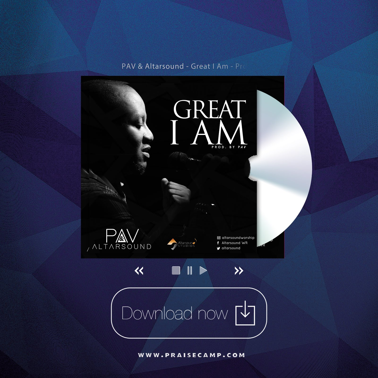 PAV & Altarsound - Great I Am
