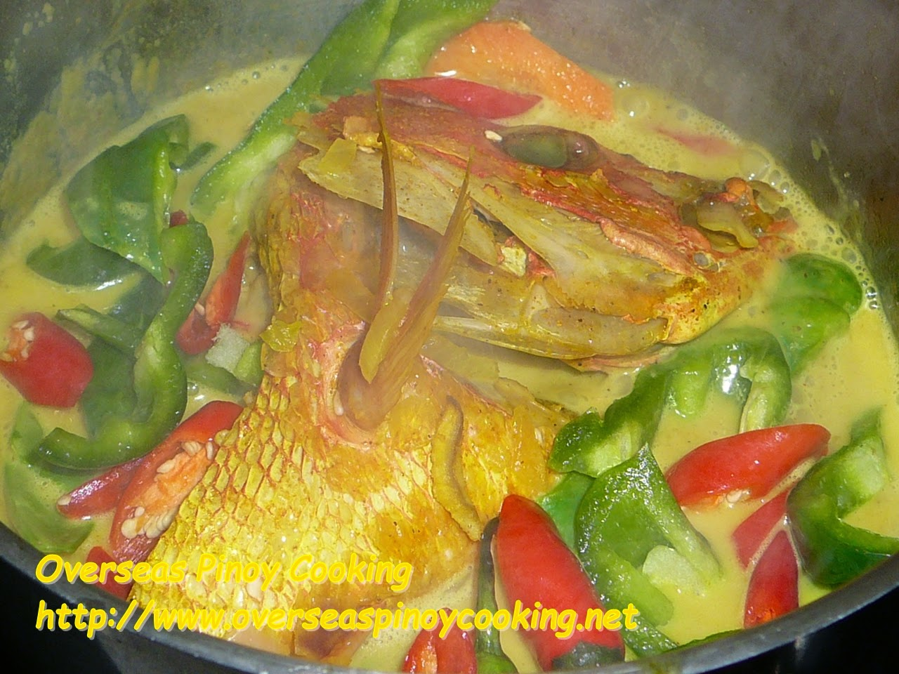 Fish Head Curry Pinoy Style - Cooking Procedure