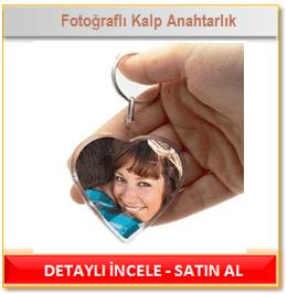 Fotoğraflı Kalp Anahtarlık