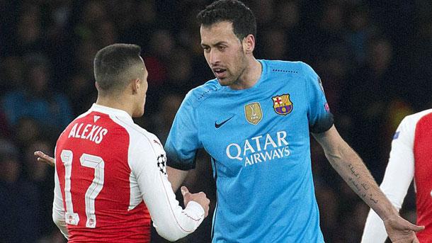 Sergio Busquets hizo un mal gesto contra el Arsenal
