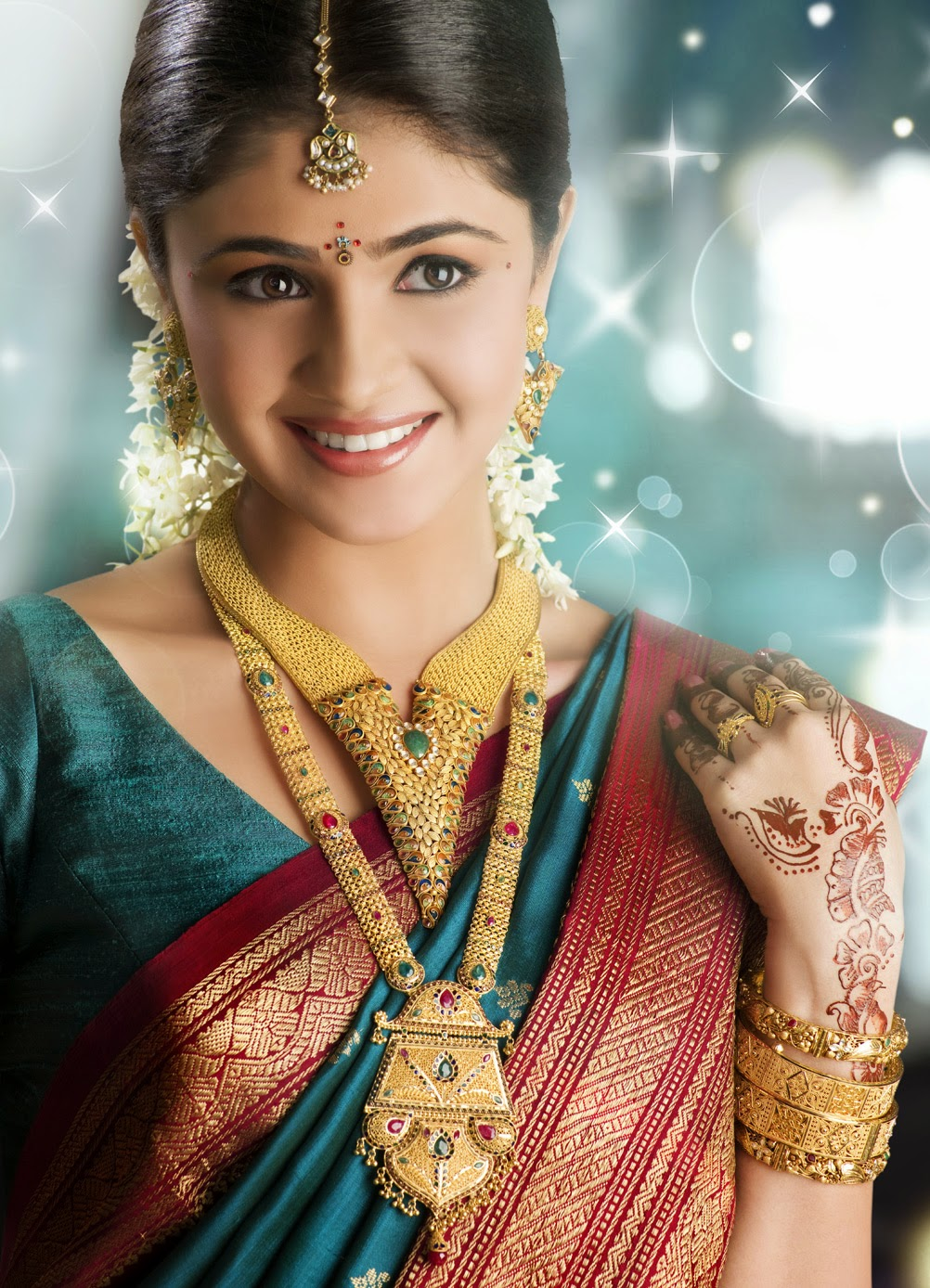 New Latest Wedding South Indian Jewelry Collection 2014-15 Wallpapers Free Download