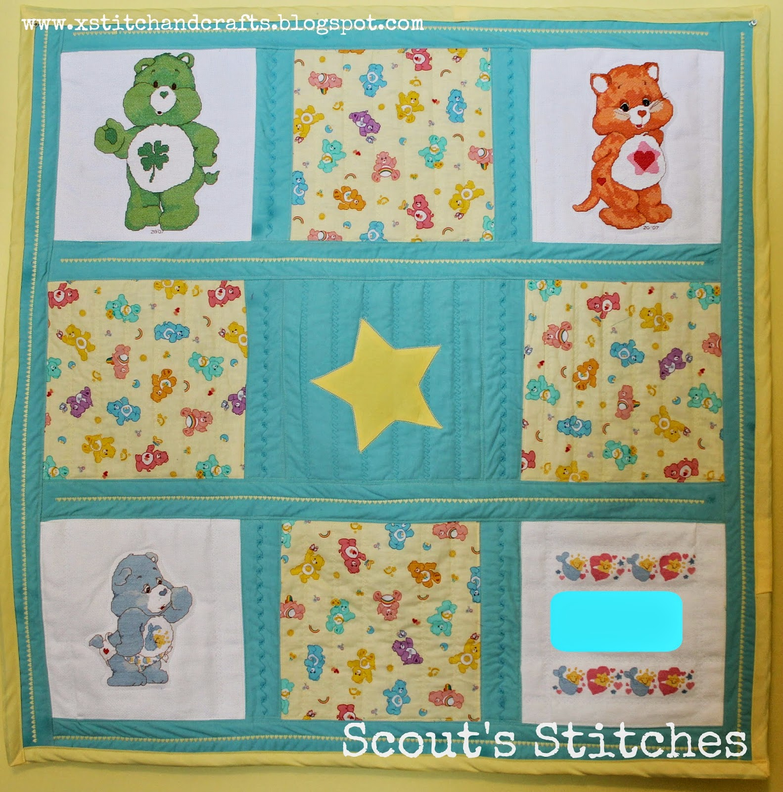 All The Joy: Care Bear Baby Quilts for Twins