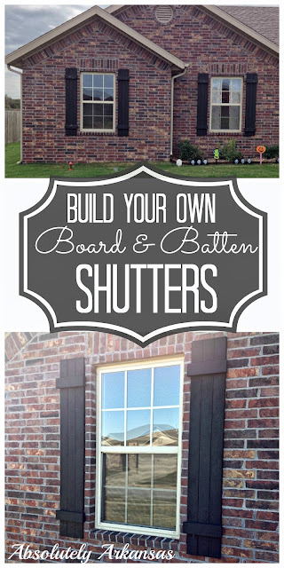 Someday crafts build your own board batten shutters for Make your own shutters