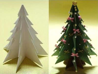 origami christmas tree 122 3d