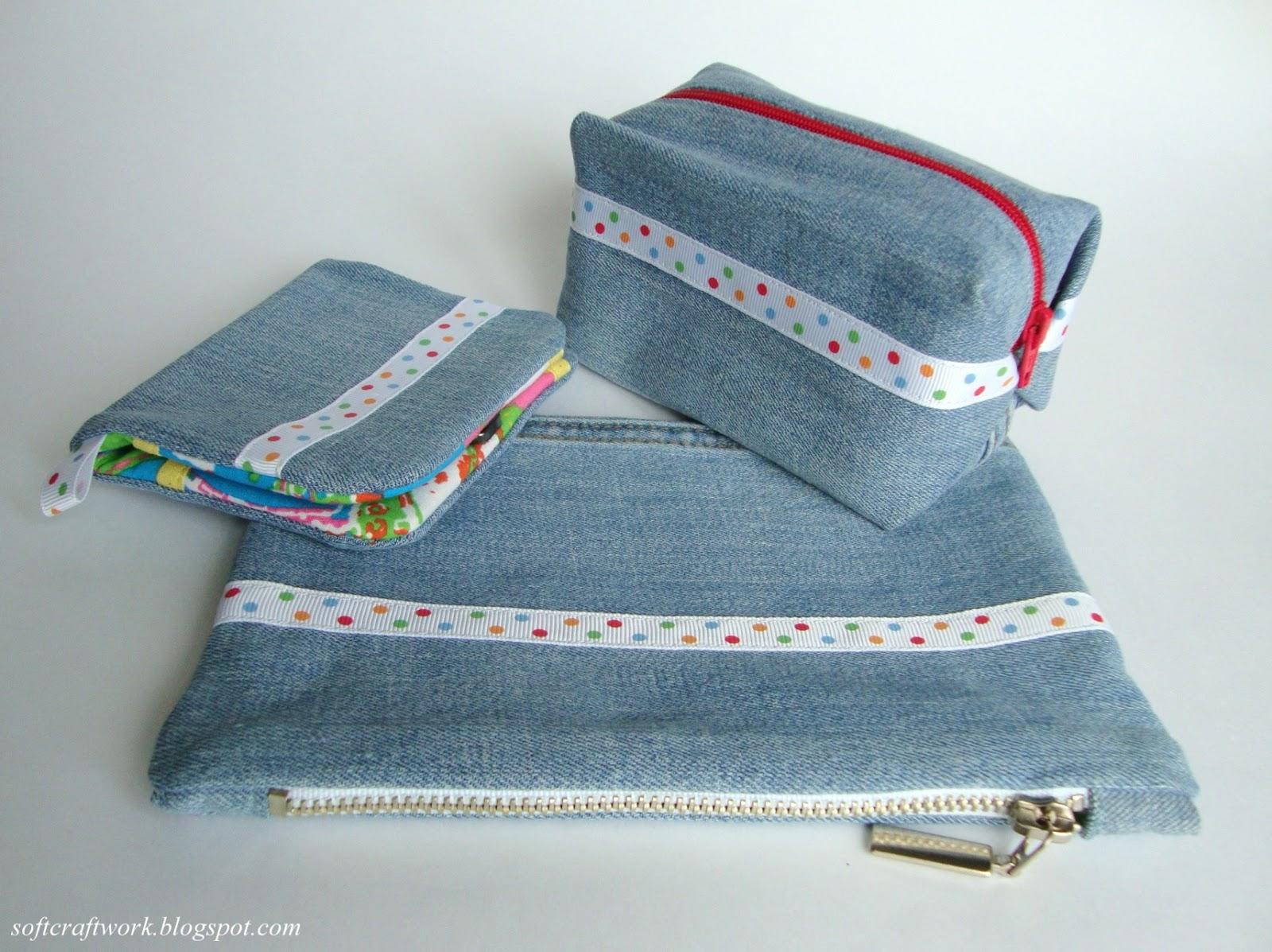 Косметички из джинсы своими руками фото