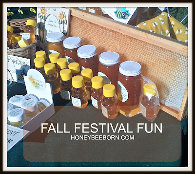 A section of my honey table at the Fall Fest