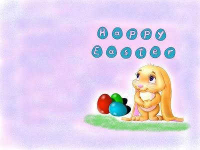 Happy Easter, čestitka za Uskrs slike pozadine